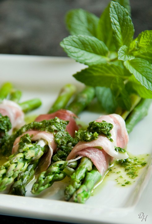 asparagus served