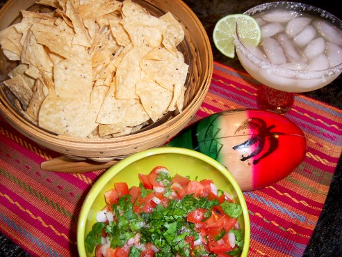 salsa and margarita
