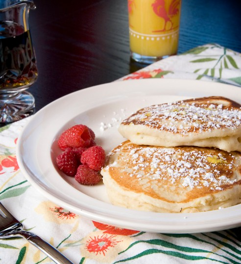 Lemon Ricotta pancakes 013