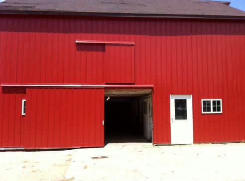 One of the Luety pig barns.  They house their pigs and two other families' pigs.