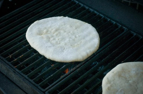 grilling pizza dough