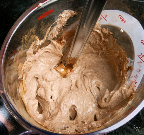 cream cheese after mixing