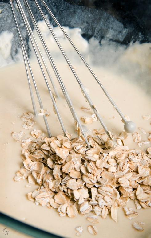 stirring in oatmeal